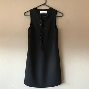 Gypsy Warrior Black Lace Up Dress Small
